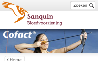 Sanquin-Cofact WebApp for iPhone